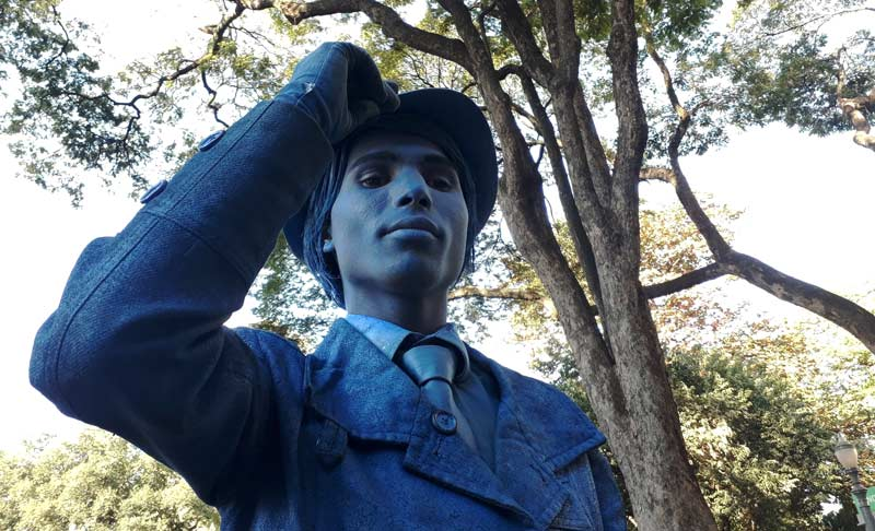 Estátua viva calçadão Ribeirão Preto História do Dia
