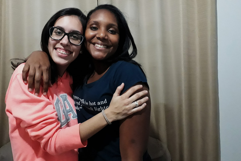 Bia e Gabi: amizade desde a maternidade