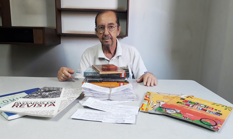 Mozart voluntário da Biblioteca Altino Arantes Ribeirão Preto - História do Dia