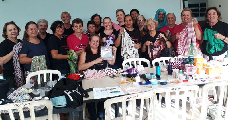 Lencinho com projeto mulheres com câncer Ribeirão Pretov