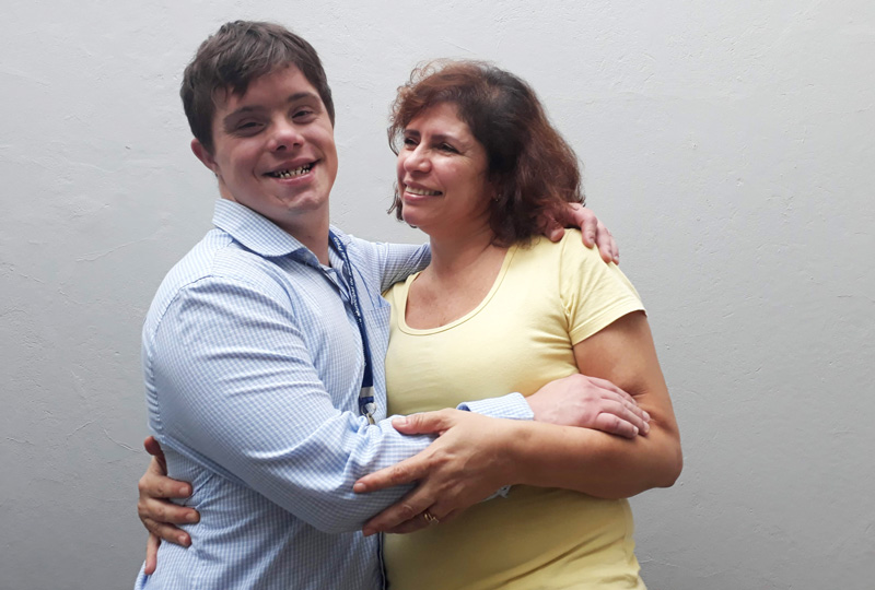 Vitor e Sílvia Cainelli Síndrome de Donw